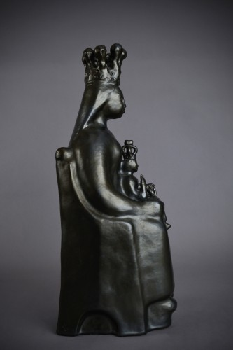 Sculpture  - Georges Jouve (1910 - 1964) - Black virgin in majesty