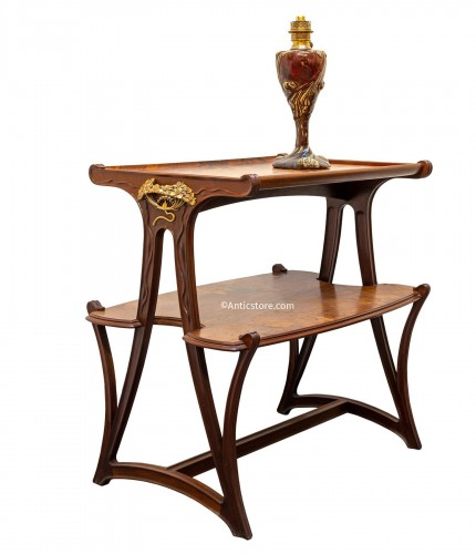 Louis Majorelle (1859-1926) - Mahogany tea table