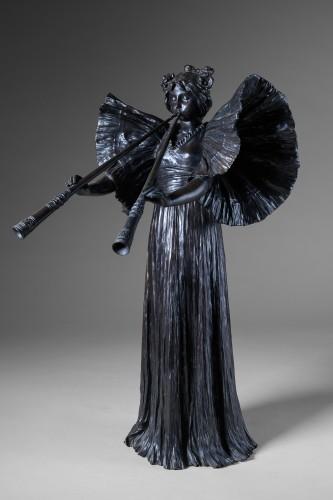 Agathon Léonard (1841-1923) -  Piped dancer - Sculpture Style Art nouveau