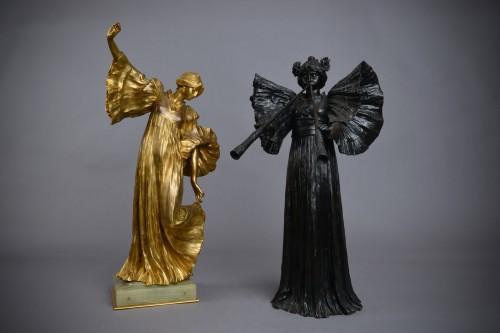 Sculpture  - Agathon Léonard (1841-1923) -  Piped dancer