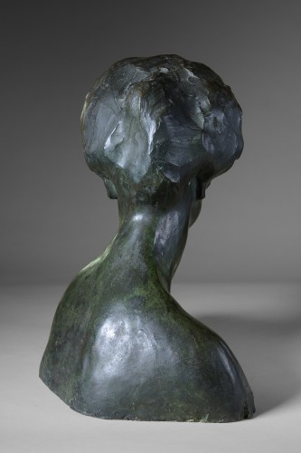 Sculpture  - Rembrandt Bugatti (1884 -1916) - Portrait de Mme Denise Ferrero.