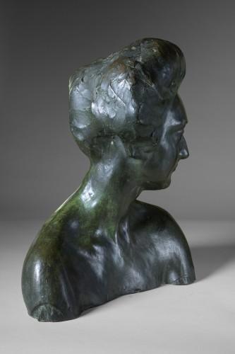 Rembrandt Bugatti (1884 -1916) - Portrait de Mme Denise Ferrero. -