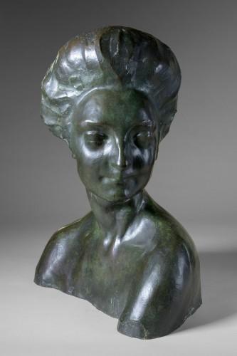 20th century - Rembrandt Bugatti (1884 -1916) - Portrait de Mme Denise Ferrero.