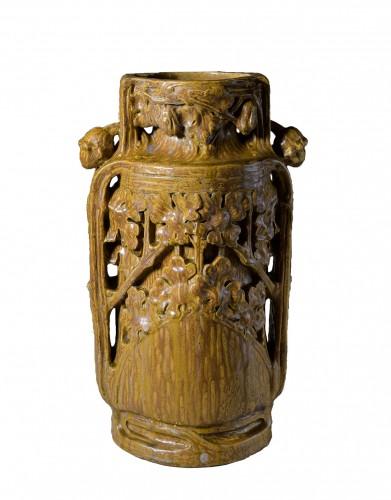 Georges Hoentschel - Large ceramic vase with spills