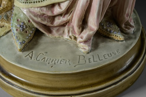 Porcelain & Faience  - Albert-Ernest Carrier-Belleuse (1824-1887) - La liseuse