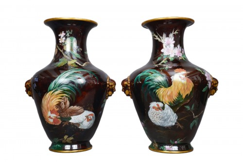 Hippolyte Boulenger - Pair of ceramic vase