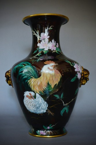19th century - Hippolyte Boulenger - Pair of ceramic vase