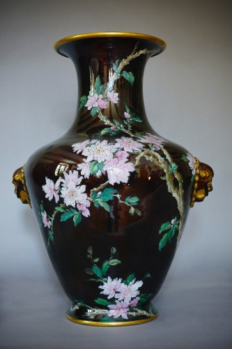 Art nouveau - Hippolyte Boulenger - Pair of ceramic vase