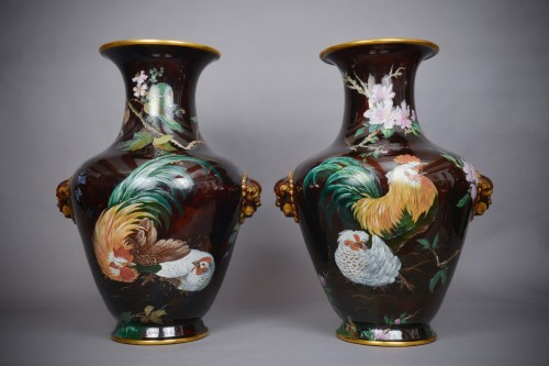 Antiquités - Hippolyte Boulenger - Pair of ceramic vase