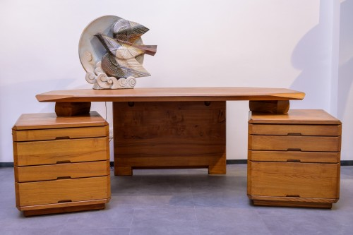 Pierre Chapo (1927-1987) - Desk B4 - Furniture Style 50