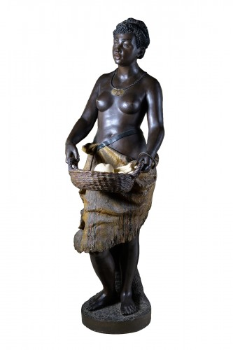 Goldsheider - African woman with basket