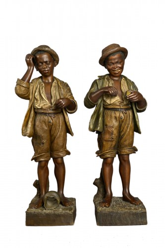Goldscheider, terracotta of young blacks