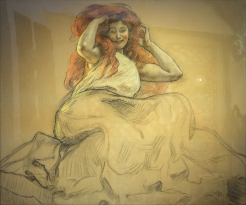 Victor Prouvé - Drawing - Paintings & Drawings Style Art nouveau