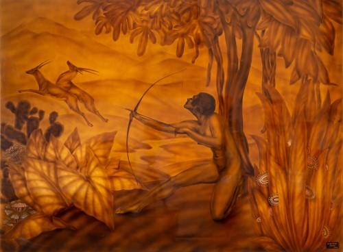 Gaston Suisse (1896-1988)  - Lacquer panel