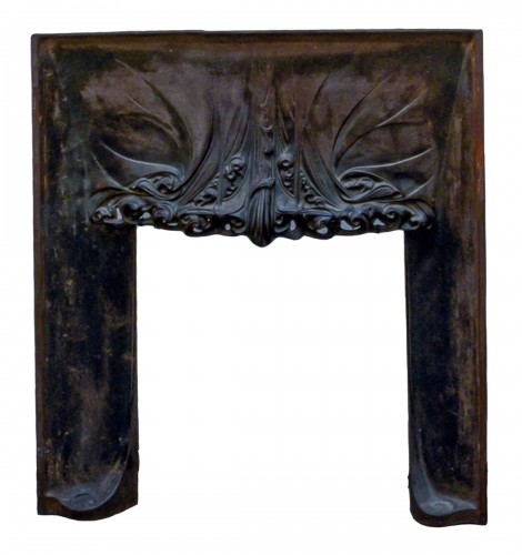 Hectore Guimard, cast iron fireplace interior