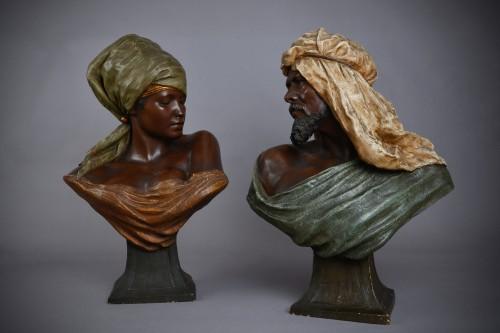 Sculpture  - Goldscheider, terracotta of a bust of berber woman