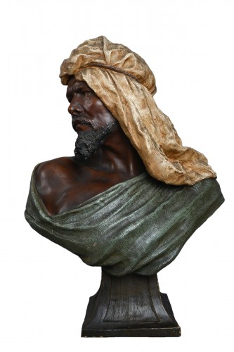 Goldscheider - Terracotta bust of berber man