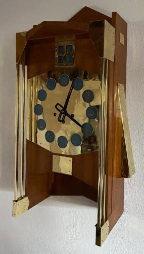 "Horology  - Gustave Serrurier-Bovy (1858-1910)  - ""Pendule Moulin"""