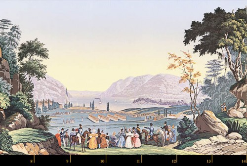 Zuber & Cie, wallpaper - View of North America