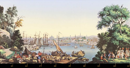 Decorative Objects  - Zuber & Cie, wallpaper - View of North America