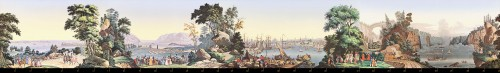 20th century - Zuber & Cie, wallpaper - View of North America