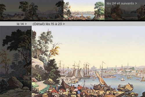 Antiquités - Zuber & Cie, wallpaper - View of North America