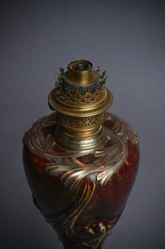 Pierre-Adrien Dalpayrat - Maurice Dufrène, ceramic oil lamp - Lighting Style Art nouveau
