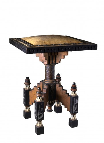 Carlo Bugatti (1855/1940) - Living room stool