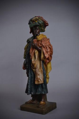 Goldscheider - The Fabric Seller in terracotta - Sculpture Style Art nouveau