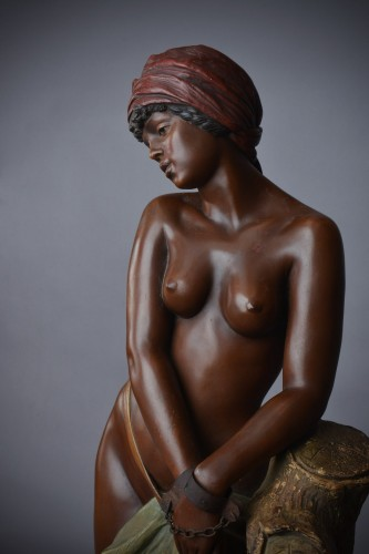 Goldscheider - Chained black Slave in terracotta - Sculpture Style Art nouveau