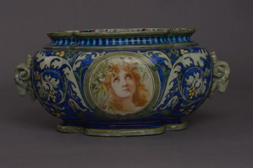 Porcelain & Faience  - Edmond Lachenal, Orpheus and Hamlet planter