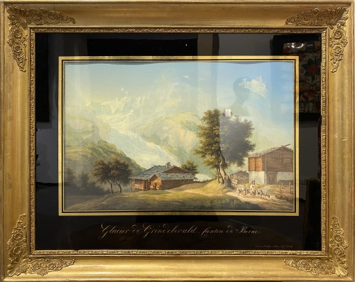 Paintings & Drawings  - Johann-Ludwig Bleuler (1792 – 1850) - Views of Switzerland
