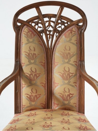 "Louis Majorelle, Living romm with ""Clematis"" - Seating Style Art nouveau"