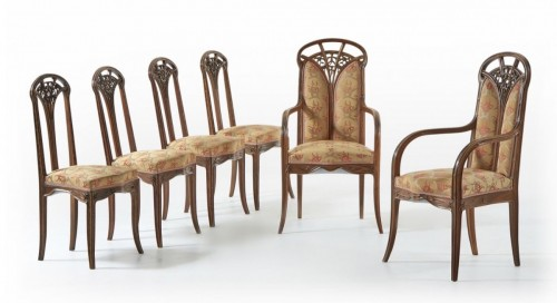 "Seating  - Louis Majorelle, Living romm with ""Clematis"""