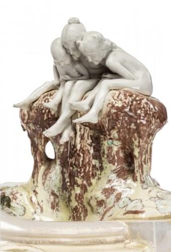 """Manufacture De Sèvres - Max Blondat, Fountain """"à la jeunesse"""" or """"aux greno"""