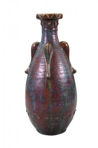 Pierre-Adrien Dalpayrat, Ovoid vase on heel. Ca 1900