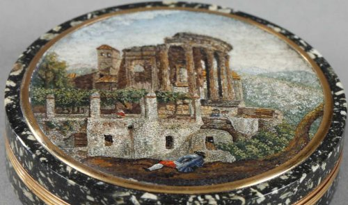 Micromosaic gold box Circa 1815 - Objects of Vertu Style Empire