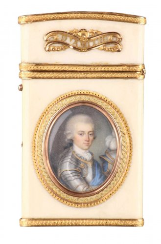 Gold and ivory case