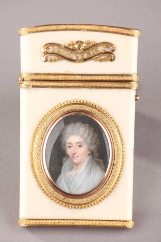 Gold and ivory case - Objects of Vertu Style Louis XVI