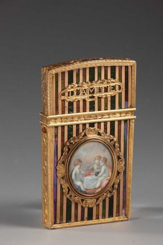Objects of Vertu  - Gold panel and vernis martin writing case