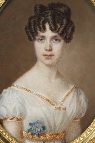 Large miniature. Signed Amélie Daubigny.  -