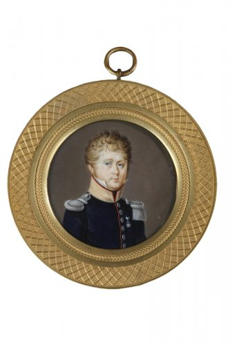 Portrait d'un officier Circa 1830