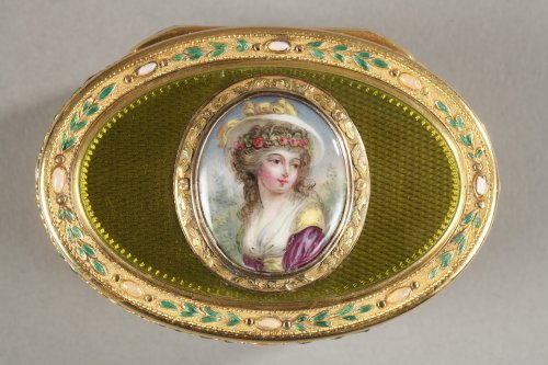 Gold and enamel snuff box18th century - Objects of Vertu Style Louis XVI
