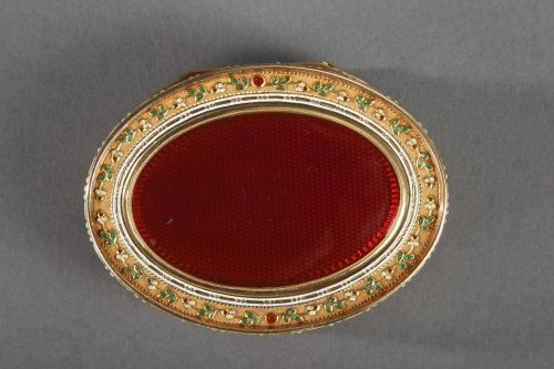Objects of Vertu  - Gold and enamel snuffbox. Late 18th century Swiss box.
