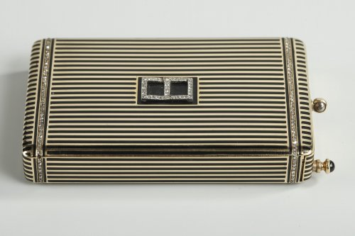 Gold and Enamel Minaudière. Art Deco, 1920-1930