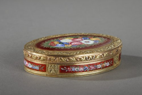 Gold and enamel box, early 19th century - Objects of Vertu Style