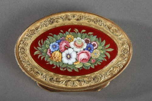 Gold and enamel box, early 19th century -