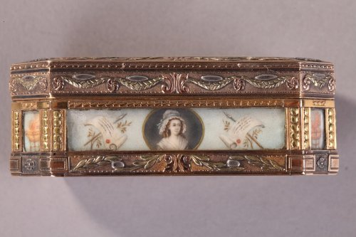 Gold Box with Revolutionary theme, 19th Century -