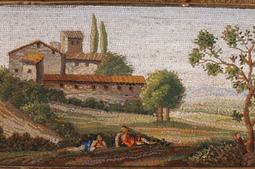 Micromosaic Plate with Arcadian landscape, Early 19th Century. - Objects of Vertu Style