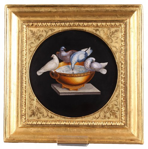 Micromosaic with Capitoline doves Circa 1830-1840